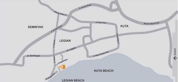 Location Of Ananta Legian Hotel Ananta Legian Hotel In Legian